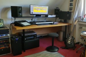 Tonstudio Arbeitsplatz Musikproduktion